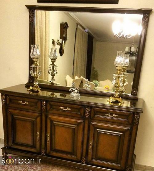 آینه کنسول جهیزیه عروس شیک16