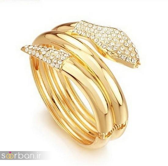 مدل بازوبند طلا عروس جدید-17