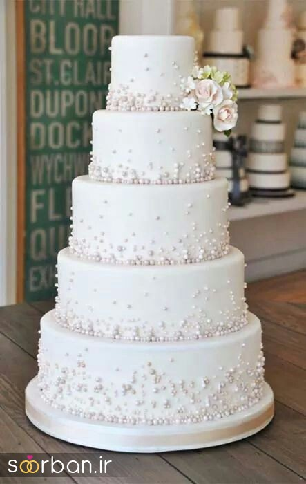 دسته گل عروس پارچه کیک عروس 2017 طبقاتی 5