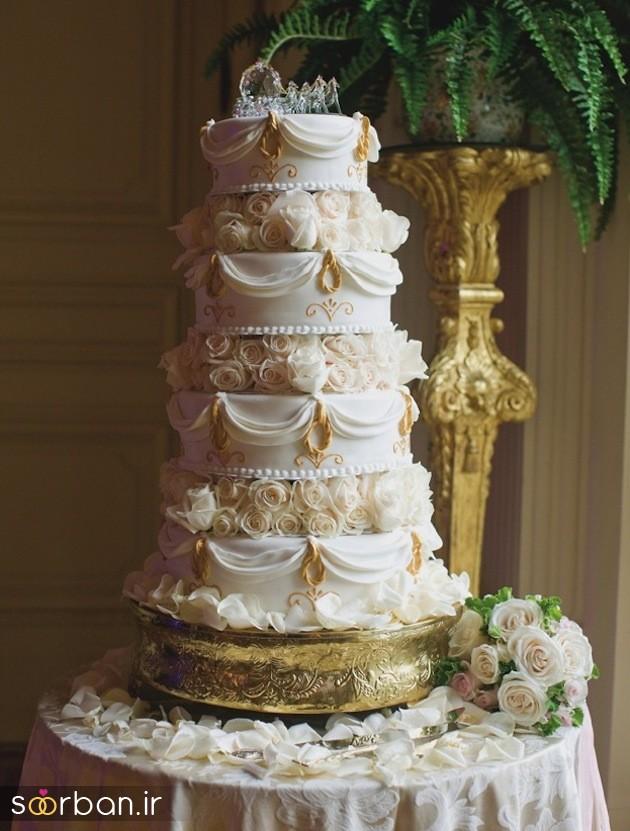 کیک عروس 2017 طبقاتی 6