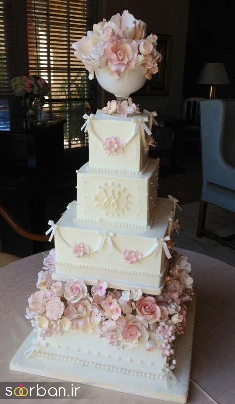 کیک عروس 2017 طبقاتی 12
