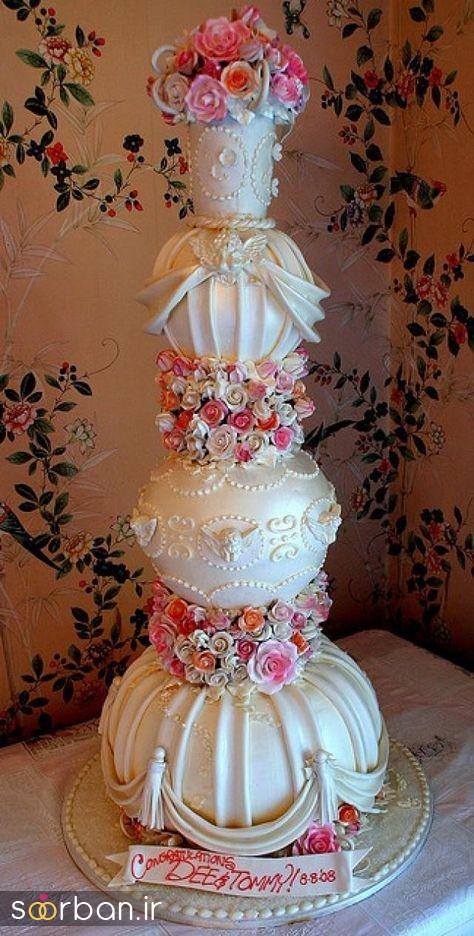 کیک عروس 2017 طبقاتی 13