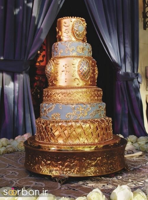 کیک عروسی طلایی 10