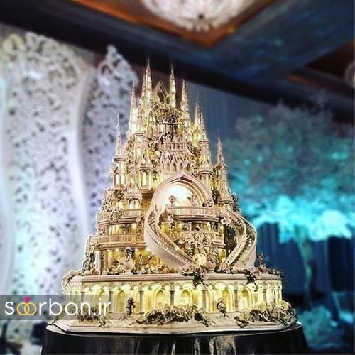 کیک عروسی مدل قصر1