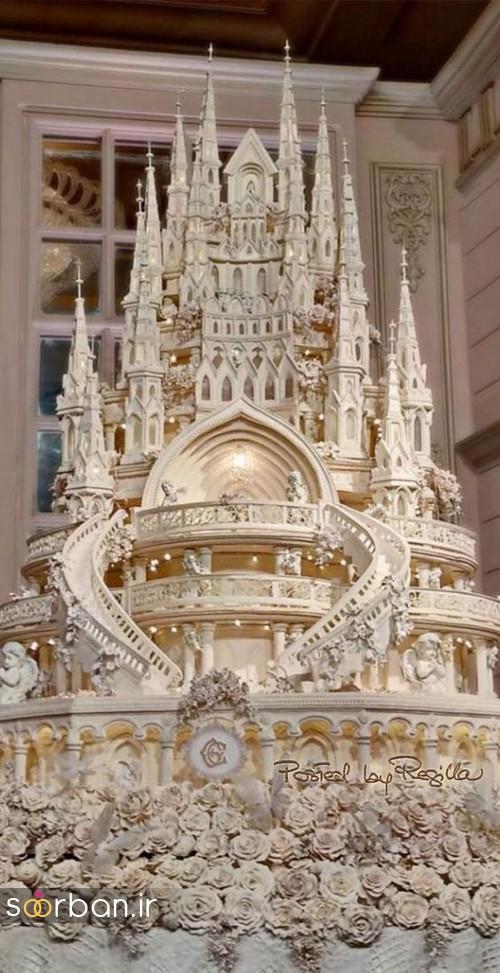 کیک عروسی مدل قصر 2