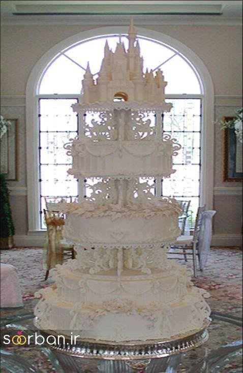 کیک عروسی مدل قصر 3