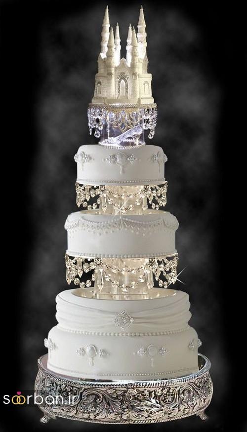 کیک عروسی مدل قصر 10
