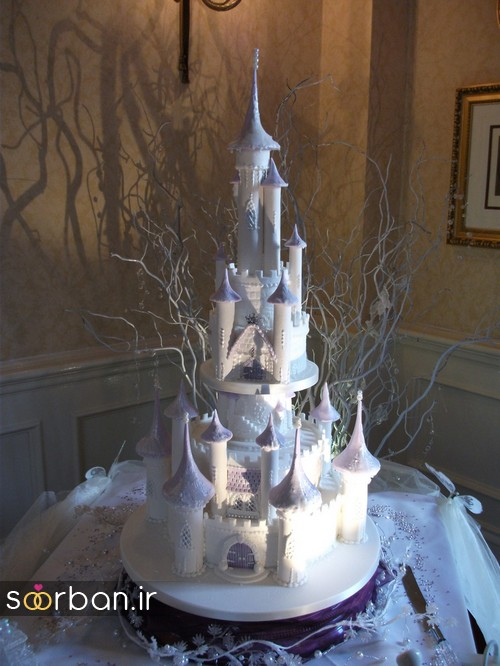 کیک عروسی مدل قصر 13
