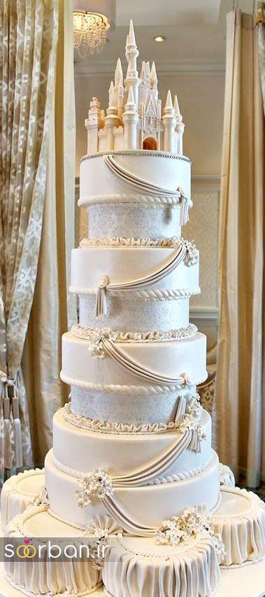 کیک عروسی مدل قصر 14