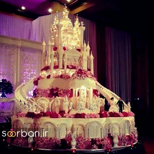 کیک عروسی مدل قصر 15