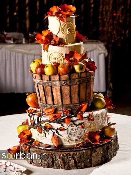 کیک عروسی پاییزی1