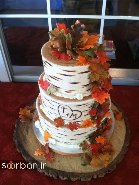کیک عروسی پاییزی 2
