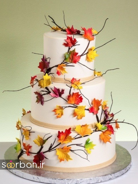 کیک عروسی پاییزی 40