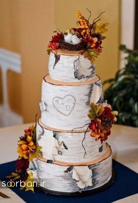 کیک عروسی پاییزی 6