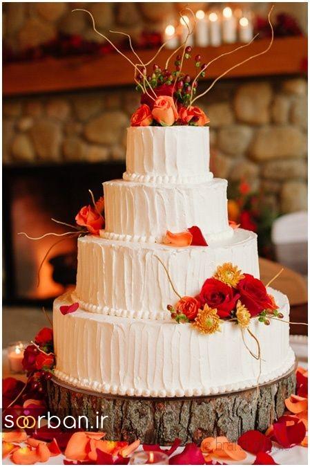 کیک عروسی پاییزی 8