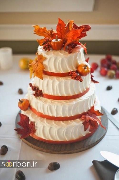 کیک عروسی پاییزی 10