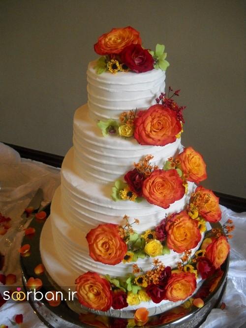 کیک عروسی پاییزی 12