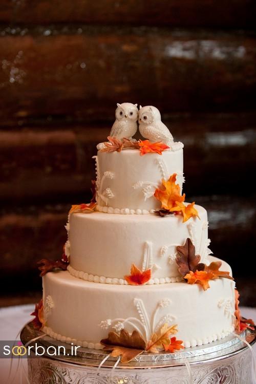 کیک عروسی پاییزی 13