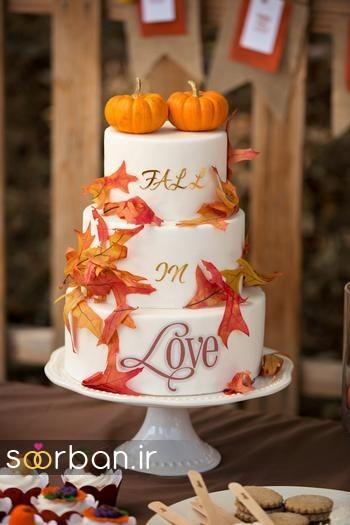 کیک عروسی پاییزی 15