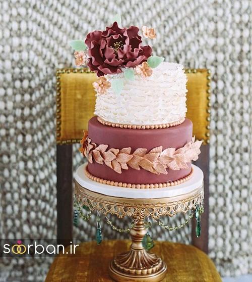 کیک عروسی پاییزی 20