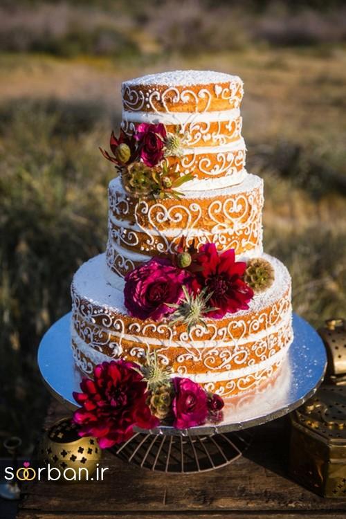 کیک عروسی پاییزی 22