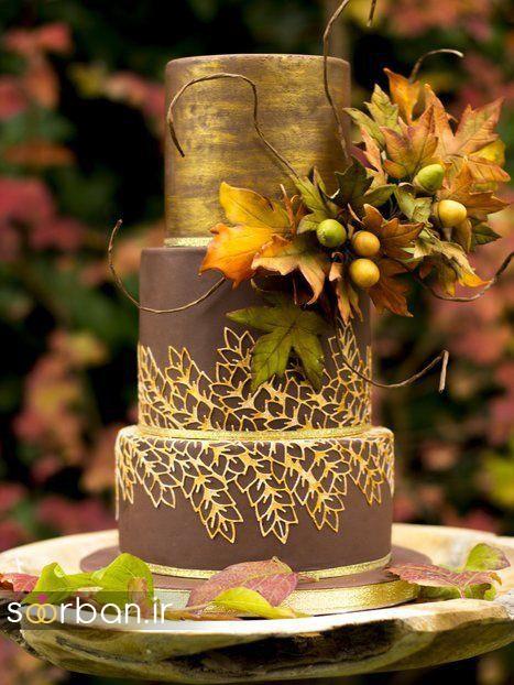 کیک عروسی پاییزی 23