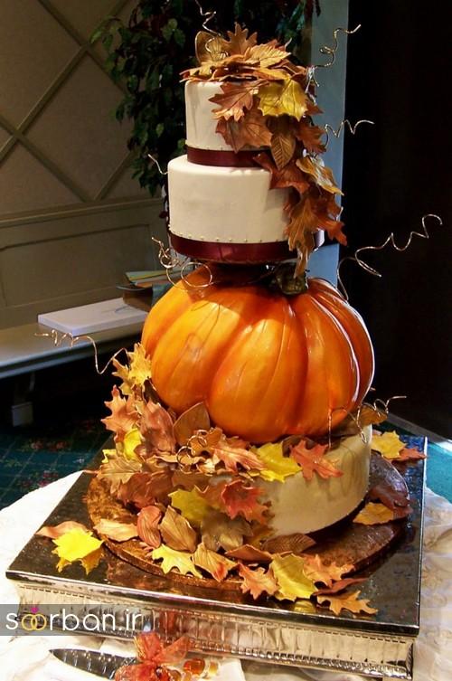 کیک عروسی پاییزی 24
