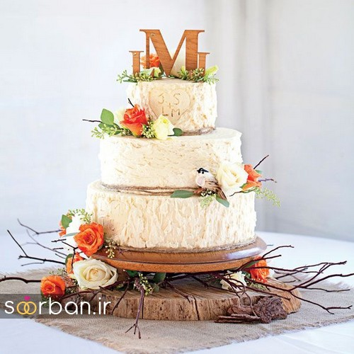 کیک عروسی پاییزی 25
