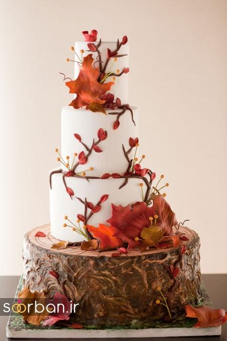 کیک عروسی پاییزی 26