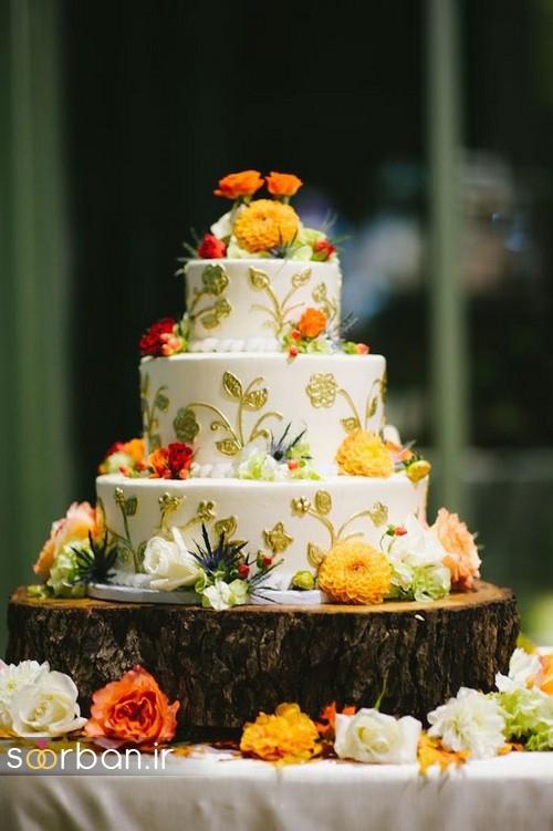کیک عروسی پاییزی 32
