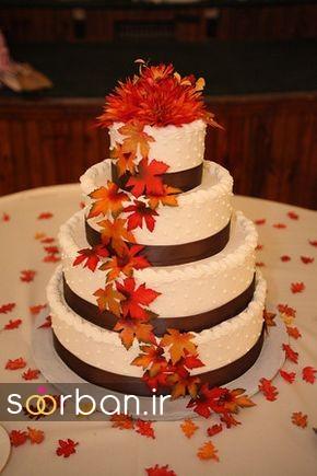 کیک عروسی پاییزی 33