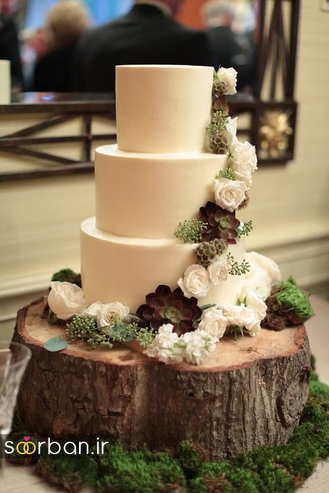 کیک عروسی پاییزی 34