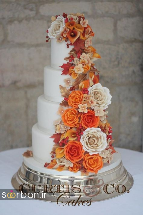کیک عروسی پاییزی 35