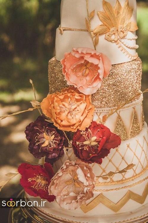کیک عروسی پاییزی 38
