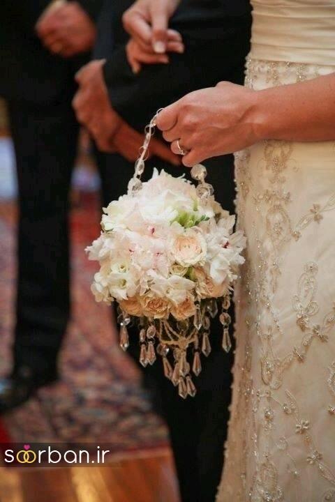 دسته گل عروس توپی4