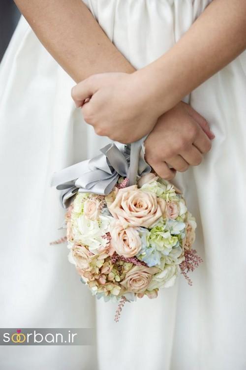 دسته گل عروس توپی7