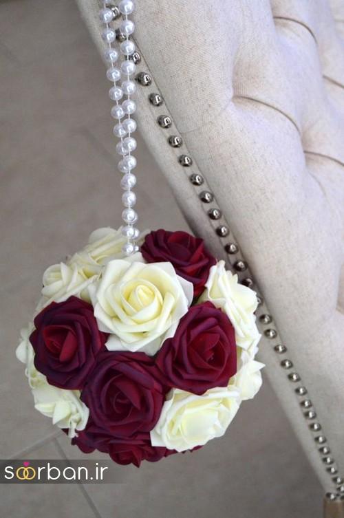 دسته گل عروس توپی9