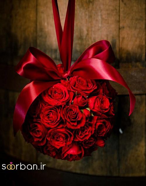 دسته گل عروس توپی13
