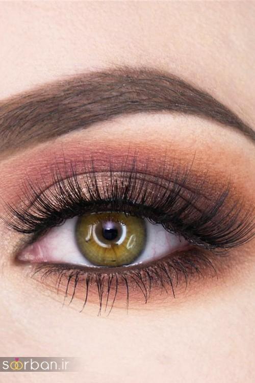 18 آرایش اروپایی چشم و سایه عروس جدید