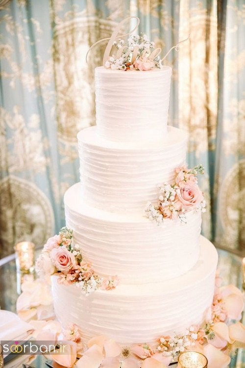 کیک عروسی با تزیین گل رز05