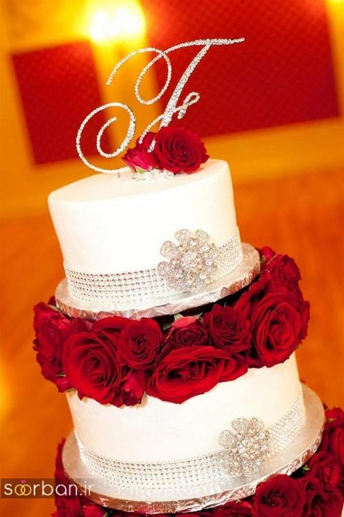 کیک عروسی با تزیین گل رز8