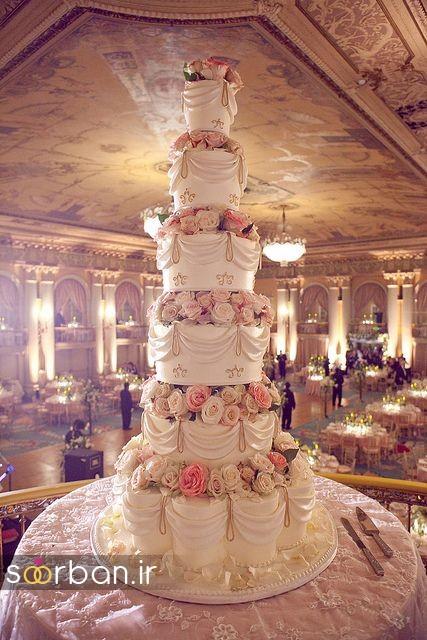 باشکوه ترین و لوکس ترین کیک های عروسی 10