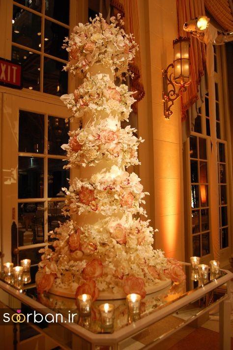 باشکوه ترین و لوکس ترین کیک های عروسی 13
