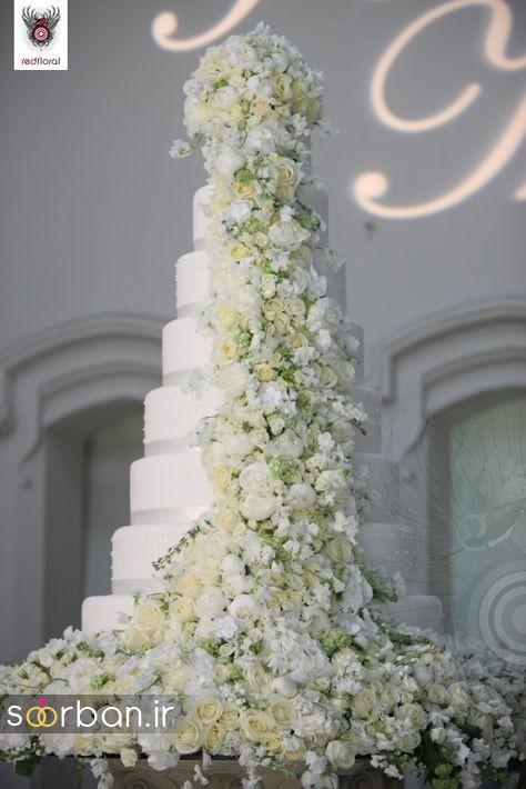 باشکوه ترین و لوکس ترین کیک های عروسی 15
