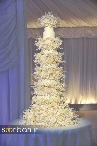 باشکوه ترین و لوکس ترین کیک های عروسی 23
