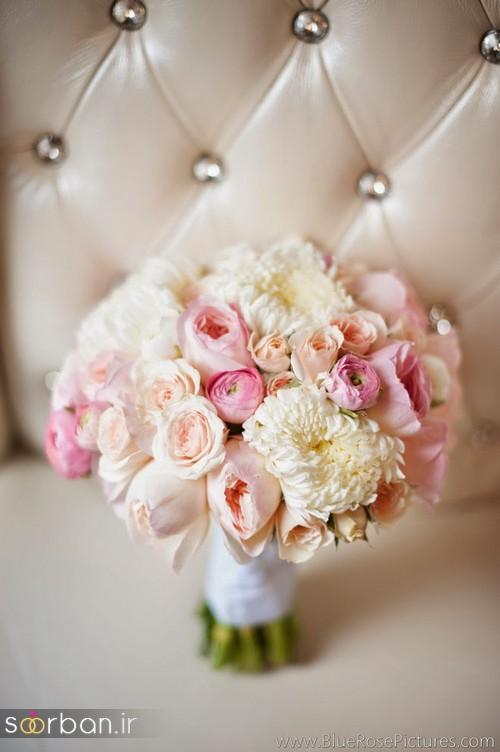 دسته گل عروس رز صورتی 1