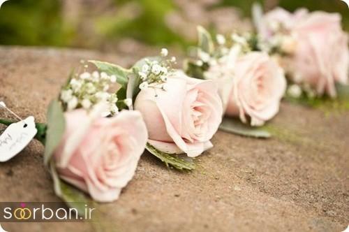 دسته گل عروس رز صورتی712