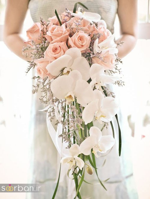 دسته گل عروس آبشاری زیبا و جدید1