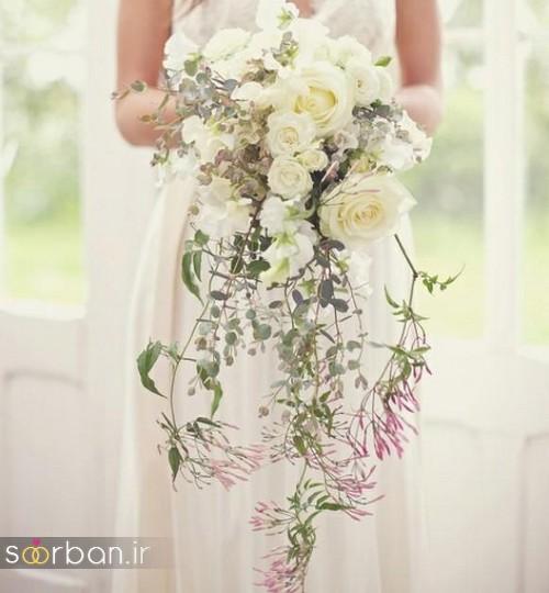 دسته گل عروس آبشاری زیبا و جدید3