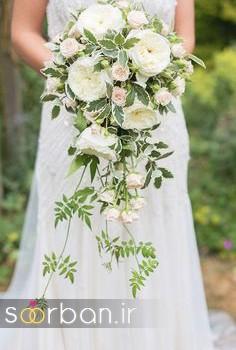 دسته گل عروس آبشاری زیبا و جدید8